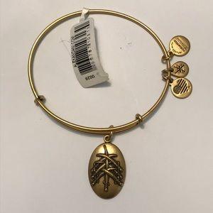 NWT Seven Swords lll, Gold charm bangle bracelet